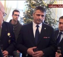 Prievidzskí mestskí policajti u prezidenta